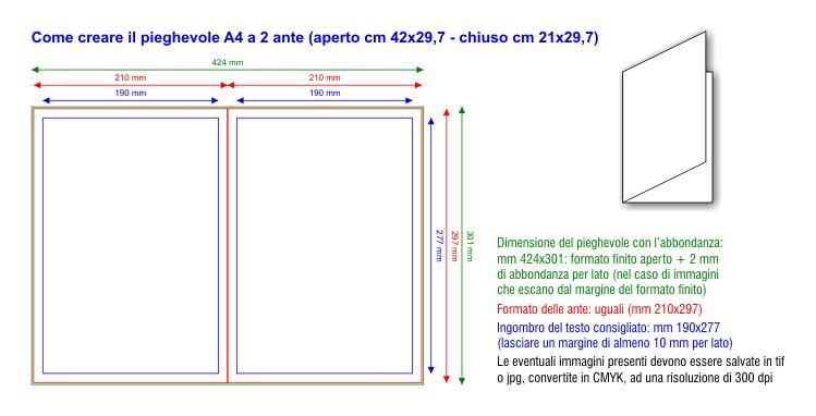 Dimensioni Pieghevole 3 Ante.Digitale On Line