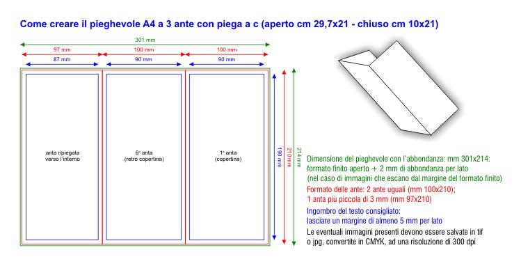 Dimensioni Pieghevole 3 Ante.Stampa Digitale On Line Service Di Stampa Digitale